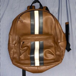 Mens Coach Leather backpack